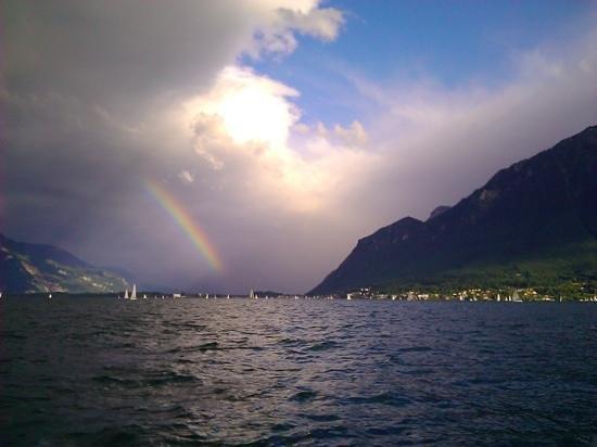 Lac Léman (Lac de Genève) : lac léman lors du bol d'or
