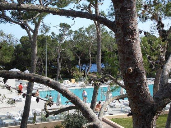 IBEROSTAR Club Cala Barca: Vue de la chambre sur les tennis et piscine