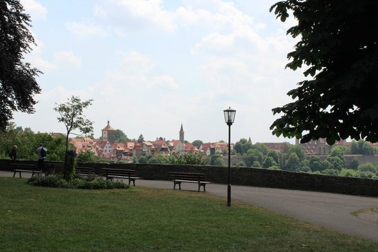 Rothenburg view from the Burggarten, July 2013