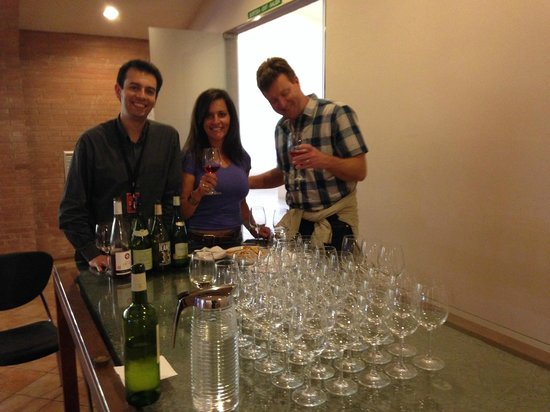 Torres : Tasting at the winery with David Rodriguez (left)