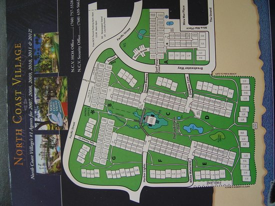 North Coast Village: Condo map