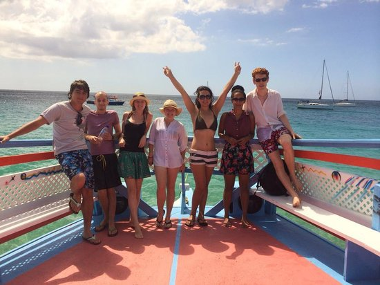 Frankie Tours & Rentals: our group on the Swanky boat