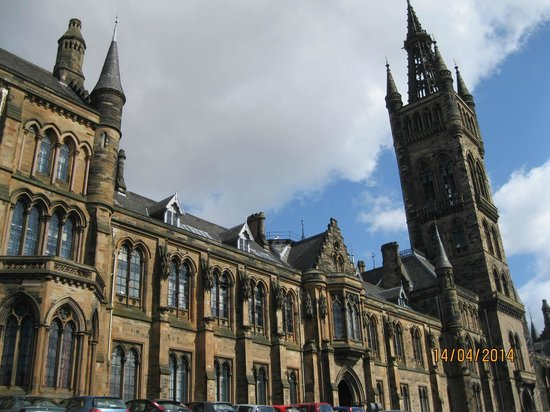 University of Glasgow: The back of the university