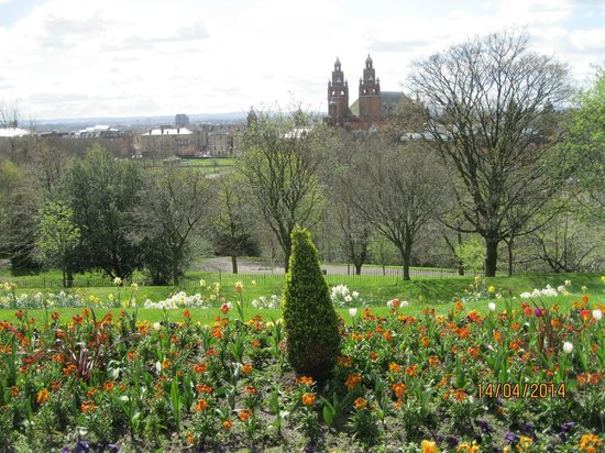 University of Glasgow: View from the back of the university