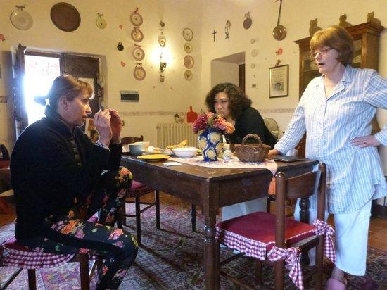 Aia Vecchia di Montalceto : talking with the owner
