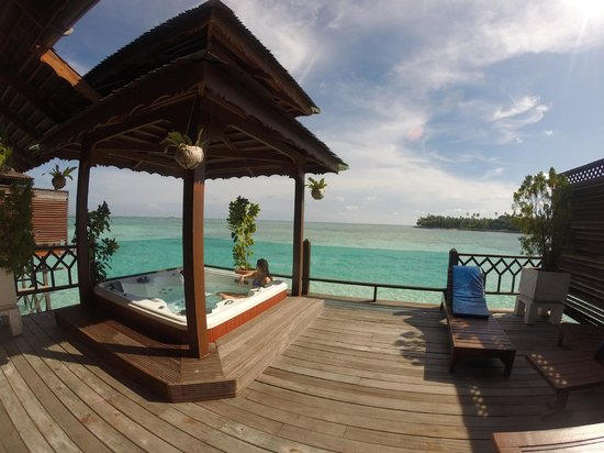 Mabul Water Bungalows: View from back of Boreno Villa 2