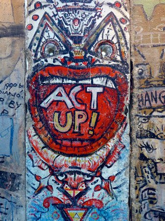 Newseum: Berlin Wall!  Stark difference between the east and west side is interesting