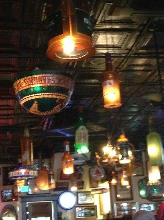 Arthur's Tavern: liquor bottle lights