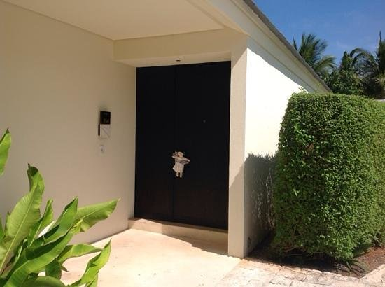 Blue Diamond Riviera Maya: housekeeping leaves a doll at the door to let you know they are in your room