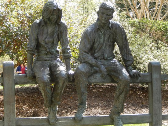 Tanger Family Bicentennial Garden : First statue you come to in the park