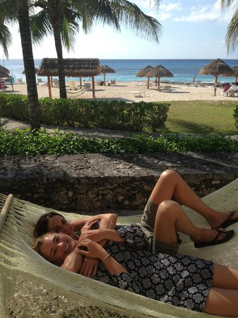 Presidente Inter-Continental Cozumel Resort & Spa: enjoying our hammock on our patio