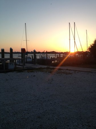 Shaggy's: Sunset view from the Shaggys deck!