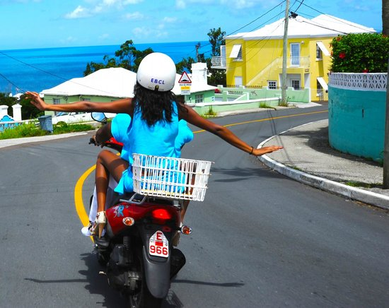 Paget, Bermuda: Free as a bird on Bermuda scooters from Elbow Beach CYcles