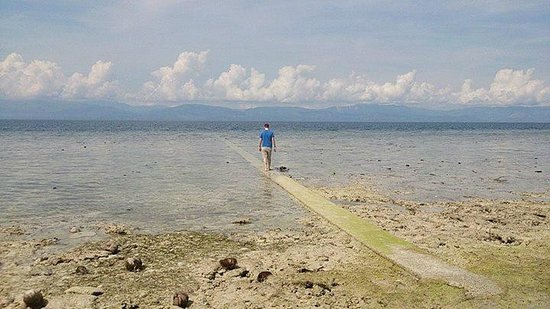 Club Serena Resort: Low tide, Walkway of Beach