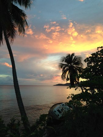 Flamboyan: A wonderful sunset, just up the street from the guest house.