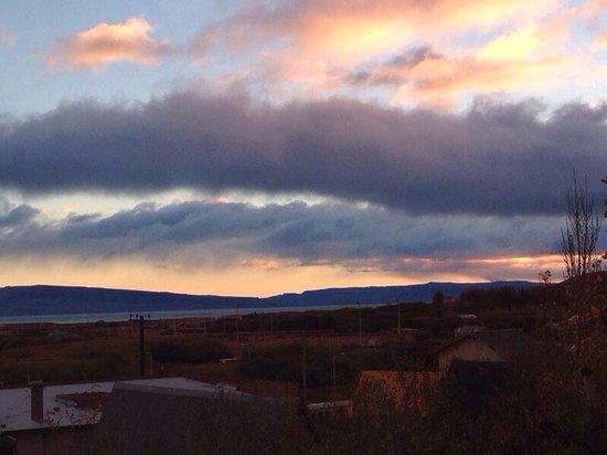 Posada Karut Josh: View from living room in sunrise. Nice!