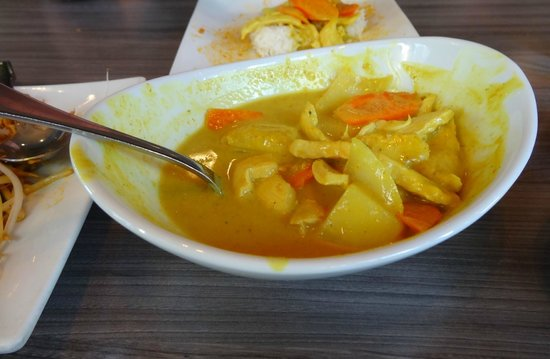 Supannee House of Thai: Yellow curry with potatoes, carrots, onion. Kind of runny, had a real floral taste to it.