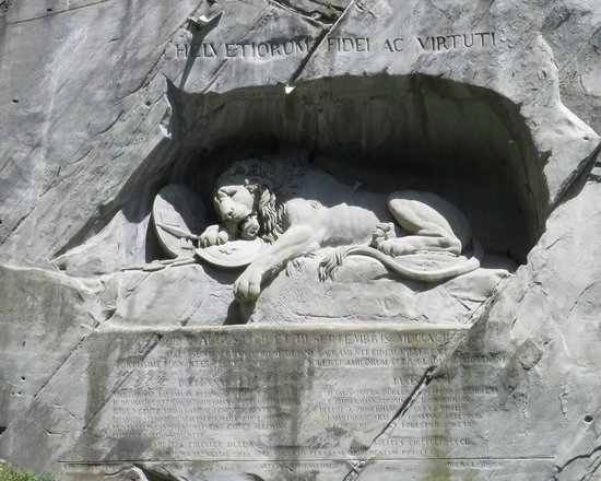 Monumento al león de Lucerna: Dying Lion