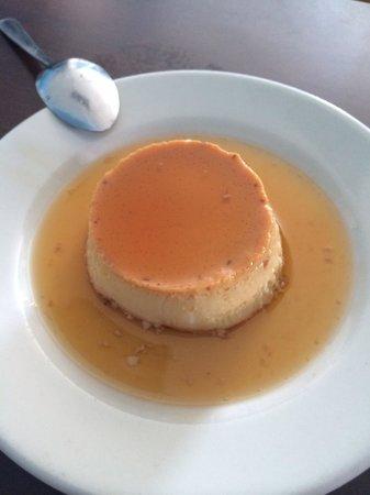 King Seafood: Almond flan dessert