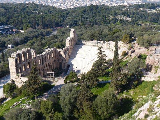 Herod Atticus Odeon: Ladera sur