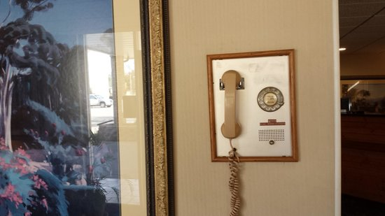 BEST WESTERN Lee's Motor Inn: A classic working rotorary phone in the lobby,