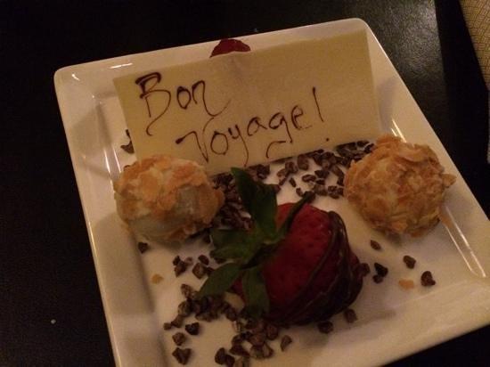 Seven: personalized truffle dessert