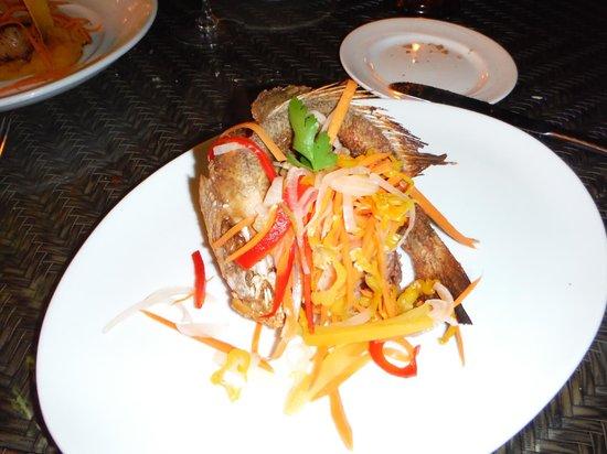 Ortanique: sea Bass, finger licking Good!