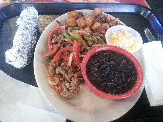 image regarding Fuzzy's Tacos Printable Menu known as Steak fajitas. Mexican potatoes, black beans. Therefore Great