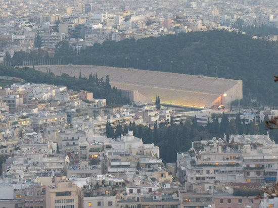 Panathenaic Stadium: Al atardecer, visto desde el Lycabetus