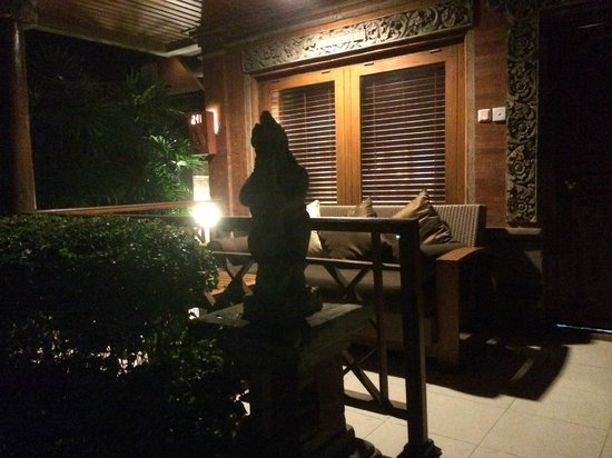 Ramayana Resort & Spa: the balcony of the cottage on ground floor