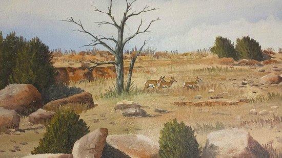 El Herradero: Antelope in a Mural by Doug and Sharon Quarrels
