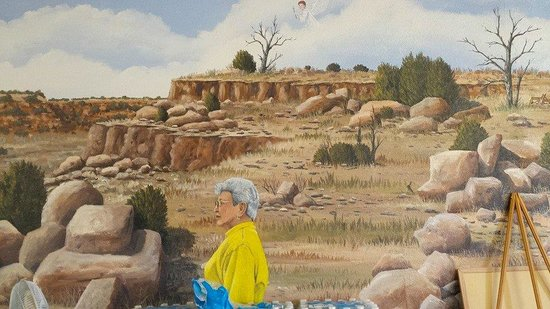 El Herradero : Abuela and an Angel in a Mural by Doug and Sharon Quarrels