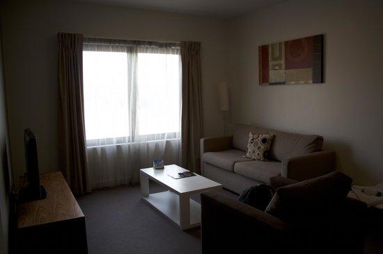 Quest Albury : Living area - 1 bedroom apartment