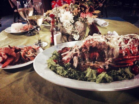 Gran Pacifica Beach and Golf Resort : Yummy lobster dinner!