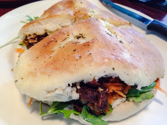 mr bones: The fantastic shredded Pork Focaccia.
