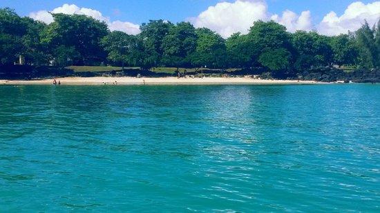 La Cuvette Beach : Vista da Praia do barco
