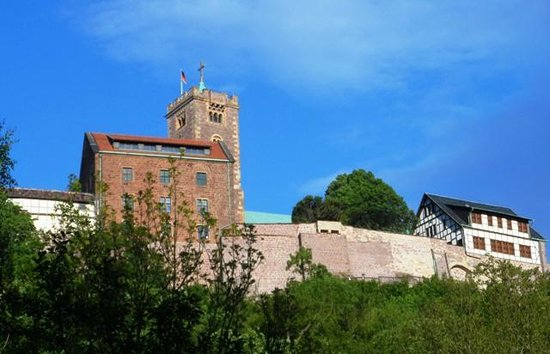 Wartburg Castle : View from the Parking Area 2