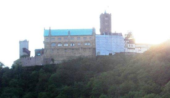 Wartburg Castle : Blick von der Strasse zur Wartburg