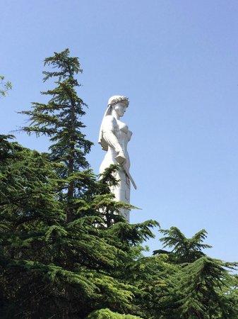 Narikala Fortress: статуя Картли