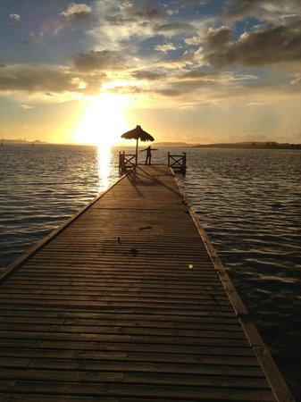 La Sultana Oualidia : couché de soleil sur le ponton