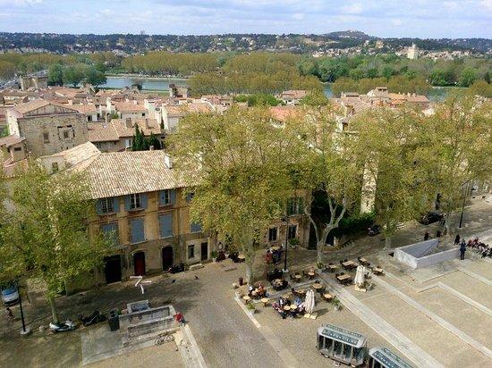 Pope's Palace (Palais des Papes): Вид сверху