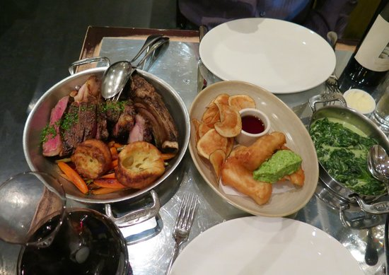 Ad Hoc: Ribeye, Yorkshire Pudding, Fish & Chips, Creamed Spinach