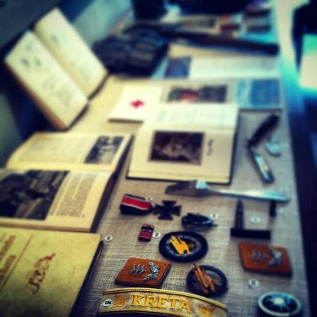 Rethymno Military Museum : German artifacts of the Battle of Crete.