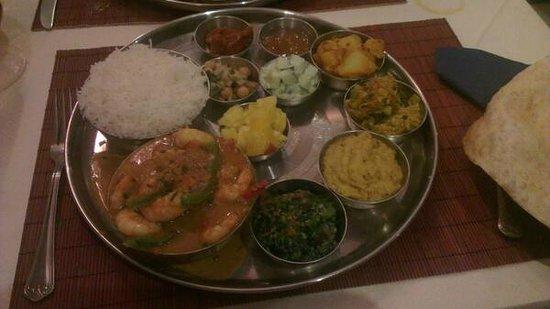Rice & Spice: Seafood Thali