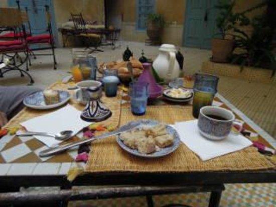 Dar Marhaba: het ontbijt
