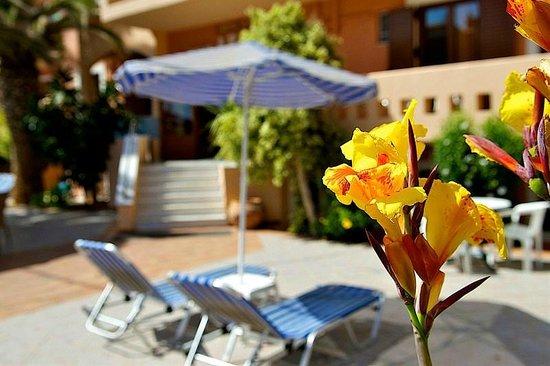 Aristea Hotel Rethymnon: artistic angle of the hotel entrance