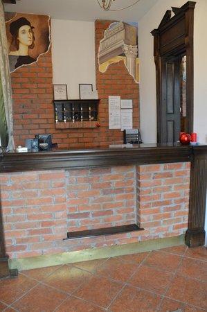 Pension Rafael: The reception area