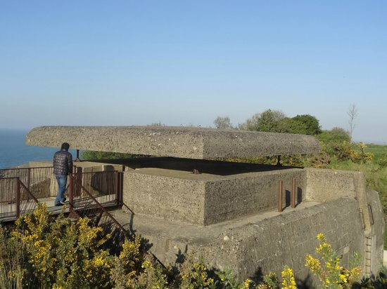 Longues Battery: entrance to pillbox