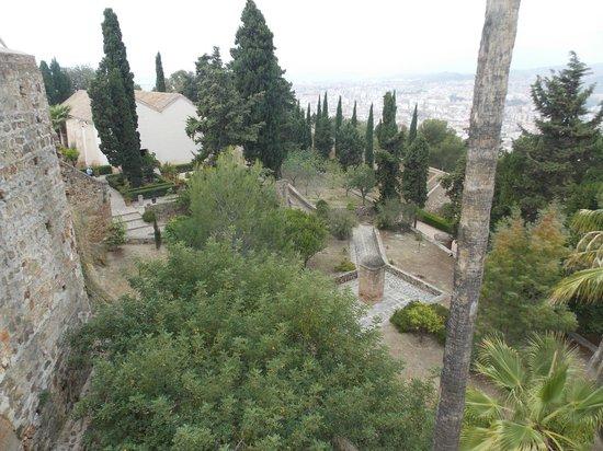 Castillo de Gibralfaro : I giardini interni del castello