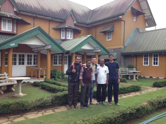 Lady Horton Bungalow: Us with Lady Horton's caretaker Mohammed and cook Bala